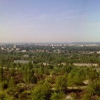 Панорама с западных отвалов карьера ПГОКа (вид на город Комсомольск), Комсомольск
