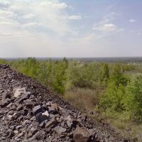 Quarry Poltava Mining. The dumps place, Комсомольск