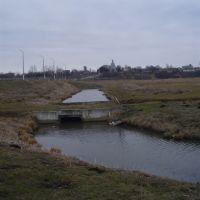 Меліоративна канава. Drainage ditch, Демидовка