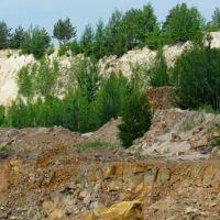 Белые каолиновые породы на древних гранитах, Клесов