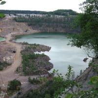 Granite quarry. Depth >70 m., Клесов
