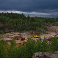 Granite quarry in the evening, Клесов