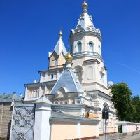Koretsky Holy Trinity nunnery from the street road., Корец