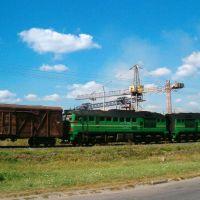 Товарняк прямує в Сарненському напрямку, Костополь