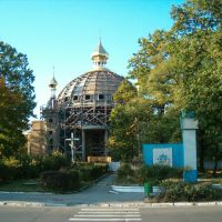 Будівництво церкви (колиcь кінотеатр «Весна»), Костополь