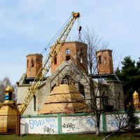 Строительство Свято-Покровского храма. г. Кузнецовск., Кузнецовск