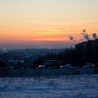 winter sunset, Ровно