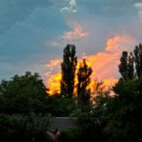 Sunset in Okhtyrka, Ахтырка