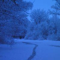 Зимой на реке, Белополье