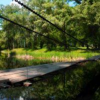 Ворскла, подвесной мост, Великая Писаревка
