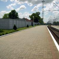 Вокзал ст.Хутор-Михайловский. 1 платформа., Дружба