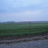 Панорама с дороги на с. Знобь-Трубчевская на восходе солнца, Знобь-Новгородское