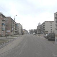 вид на улицу Ленина от круговой развязки., Лебедин