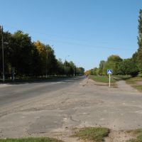 Lipova Dolina, view of the Romenskaya street, Липовая Долина