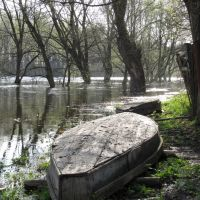 Boats on the bank of Seym, Путивль