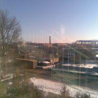 Вид на Полиграфмаш из окна КНЕУ, Ромны