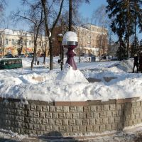 Фонтан зимой, Сумы
