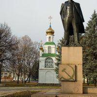 Памятник В. И. Ленину на фоне..., Тростянец