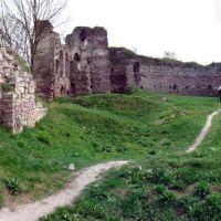 BUCZACZ (Бучач, בוצאץ) Ruiny zamku z XIV w. The ruins of the medieval castle., Бучач