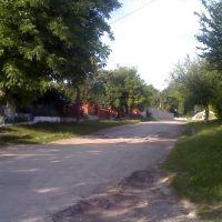 З вул.Грушевського поворот біля фабрики вгору, Великие Борки