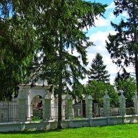 Внешняя стена замка-музея Вишнивецких,вид с внутреннего дворика., Вишневец