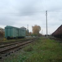 Станция Гусятин. Вид в сторону тупика, Гусятин
