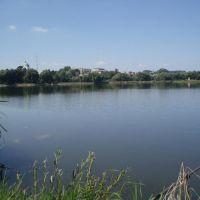Зборів. Панорама з міського ставу. / Zboriv. A panorama of city lake, Зборов