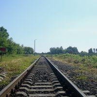 Станция Лановцы. Вид в сторону Лепесовки, Лановцы