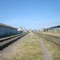 Станция Лановцы. Вид в сторону Збаража, Лановцы