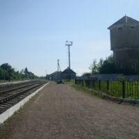 Станция Лановцы. Первая платформа.  Вид в сторону Лепесовки, Лановцы