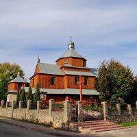 Монастириська - церква Введення Пресвятої Діви Марії, Monastyryska - wooden church, 1873, Монастыриска