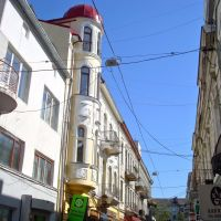 Ternopil, street in the old town, May 2009, Тернополь