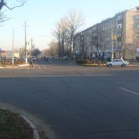 """перекресток на 14-ом Вид в сторону """"Китайки"""" (2010.11.15), Балаклея"""