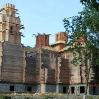 Строящаяся церковь в Богодухове - Church under construction in Bogoduhov, Богодухов