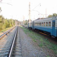evening on the railway, Боровая