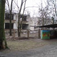 the view of dilapidated childrens hospital, Боровая