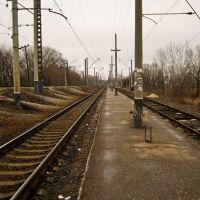 """The station of The South Railway 7th kilometre - зупинка поїздів Південної залізниці """"7-й кілометр"""", Боровая"""