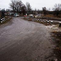Str. Azovstalska - вул. Азовстальська (переїзд через залізницю), Боровая