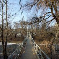 Подвесной пешеходный мост, Боровая