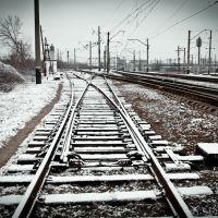 Очікують на свій потяг / Pending of their train, Боровая