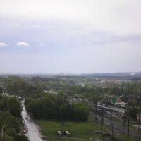 Вид на Харьков со стороны Дергачей, Дергачи