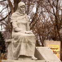 Памятник на кладбище в Дергачах - The monument in the cemetery at Dergachi, Дергачи