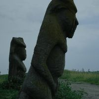 Scythian stone idols gathered on a mount in Izyum, Изюм