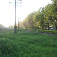 Вид от АЗС в сторону Центра., Кегичевка