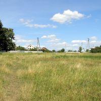 Вид на улицу Гайдара с поля, Люботин