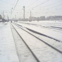 The railway lines near Pervomaiskiye, Первомайский