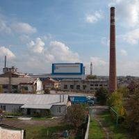 Мерефянский Стекольный Завод. Вид с моста., Мерефа