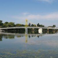 Пешеходный мост. Pedestrian bridge., Великая Лепетиха