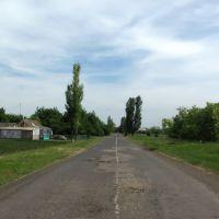 Вїзд з північної сторони селища Високопілля, Высокополье