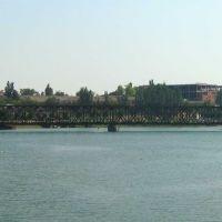 Старый Ж-д. мост через пролив тонкий, Геническ